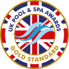 UK pool and spa awards - gold standard logo