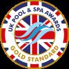UK pool and spa awards - gold standard logo