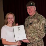 Rebecca Gee and Lieutenant Colonel David Dawber_receiving silver award-cropped (1)