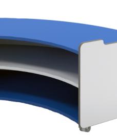 Internal Curve Bookcase