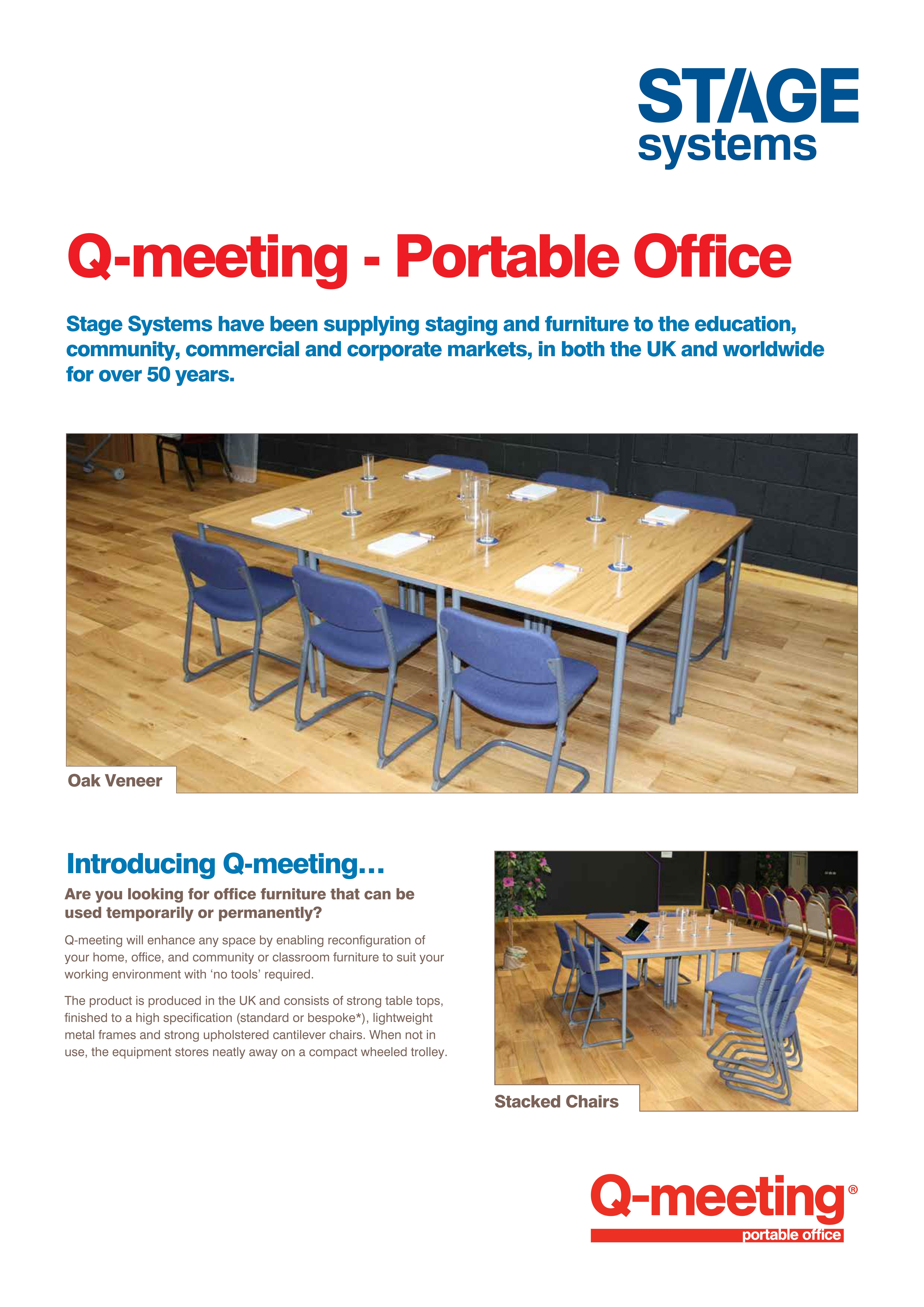 Q-meeting Portable Office Furniture