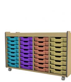 Quadruple tray unit
