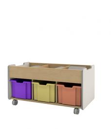 Triple tray with storage 3